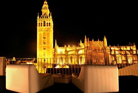 Terraza del hotel EME de Sevilla